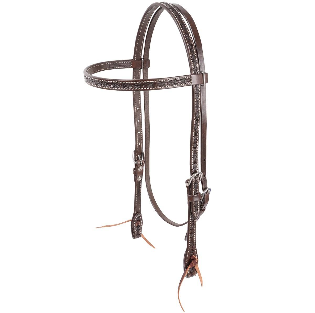 Cashel Barbwire Tooled Browband Headstall