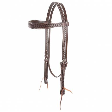 Cashel Shield Tooled Browband Headstall