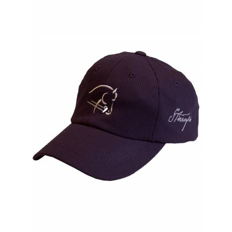 Stirrups Horsehead Outline Embroidered Wicking Cap with- Ladies
