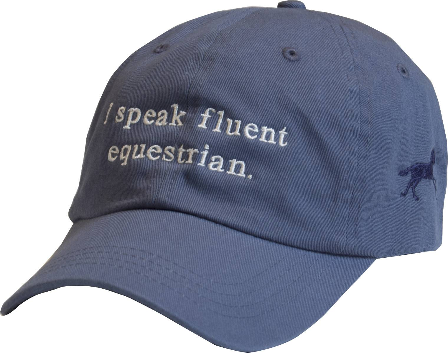 Stirrups I Speak Fluent Equestrian Garment Washed Cap- Ladies