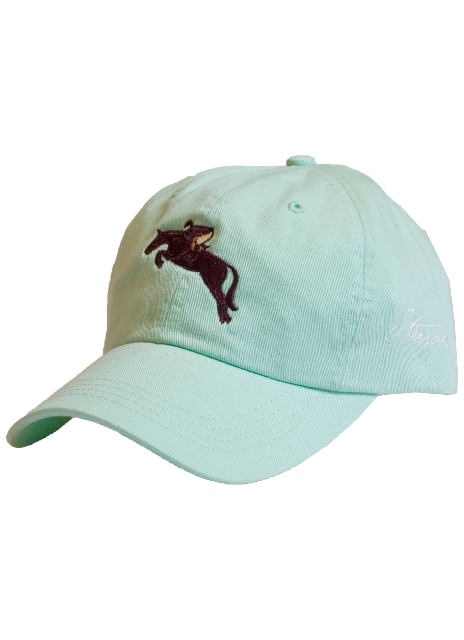 Stirrups Jumping Horse Cotton Twill Seersucker Cap - Ladies