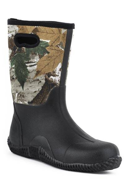 Roper Barnyard Camo Neoprene Barn Boot- Men's
