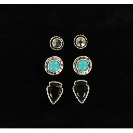 Blazin Roxx Arrowhead Trio Earrings