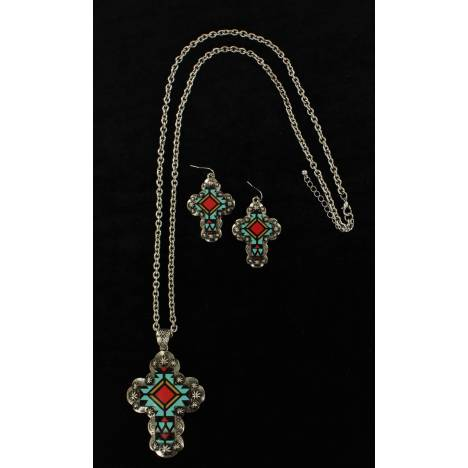 Blazin Roxx Aztec Cross Jewelry Set