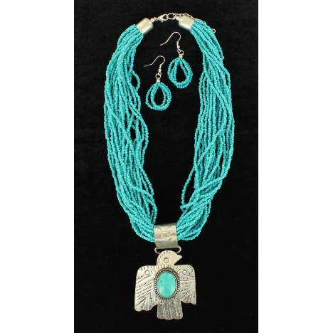 Blazin Roxx Beaded Thunderbird Jewelry Set