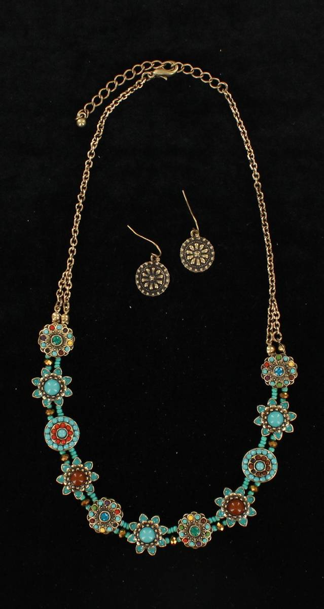 Blazin Roxx Circle Flower Jewelry Set