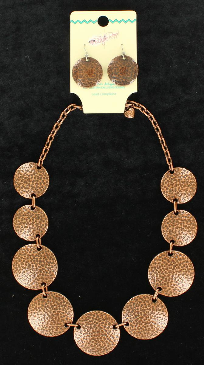 Blazin Roxx Copper Coin Jewelry Set