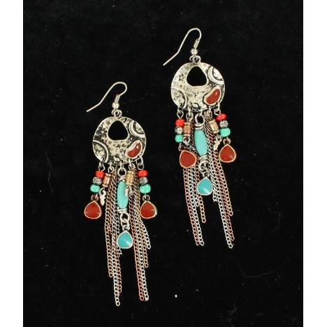 Blazin Roxx Dangle Chain Earrings