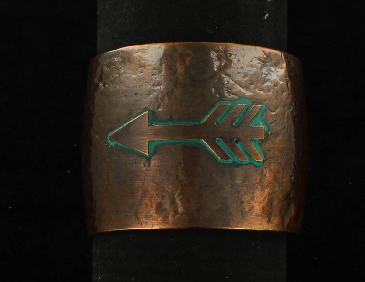 Blazin Roxx Hammered Arrow Copper Cuff Bracelet