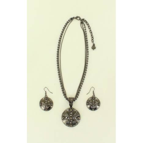 Blazin Roxx Concho & Diamond Jewelry Set