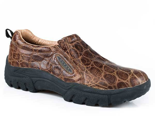 Roper Performance Embossed Old Croc Slip On Shoe- Men's