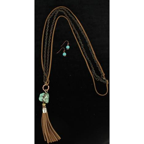Blazin Roxx Tassel Chain Jewelry Set