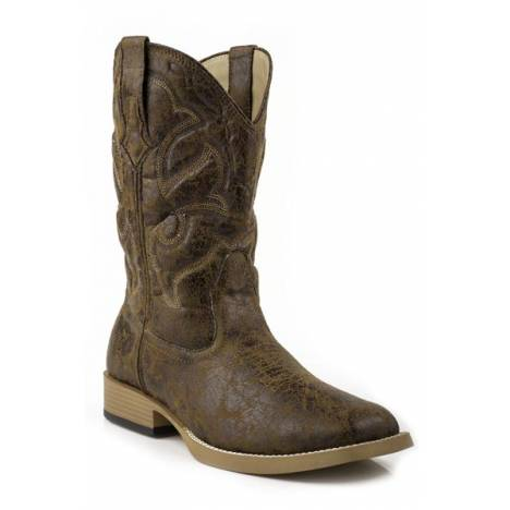 Roper Scout Wide Square Toe Western Boot- Men's