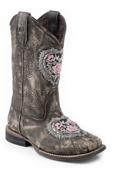 Roper Destiny Square Toe Western Boot- Girl's