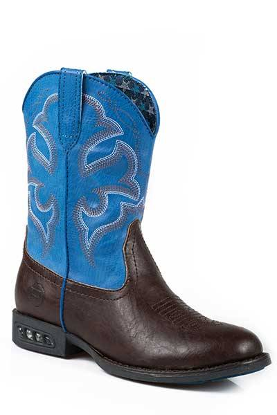 Roper Boys Lightning Light Up Western Boot- Boy's