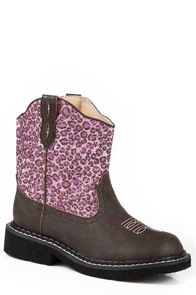 Roper Cheetah Chunks Riderlite 2 Western Boot- Girl's