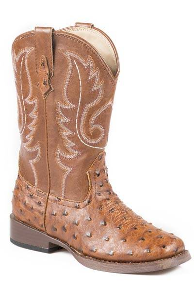 Roper Bumps Square Toe Western Boot- Boy's