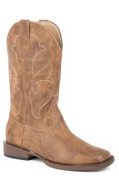 Roper Cole Square Toe Western Boot- Boy's