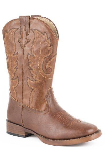Roper Texson Square Toe Western Boot- Boy's