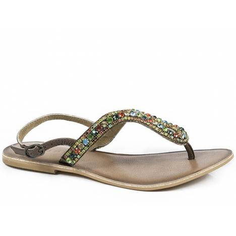 Roper Gems Crystal Thong Sandal- Ladies