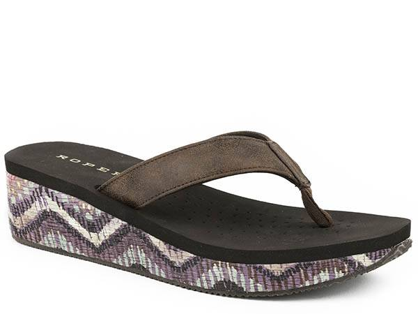 Roper Wave Low Wedge Sandal- Ladies