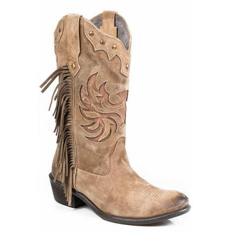Roper Fringes Suede Fashion Western Boot- Ladies