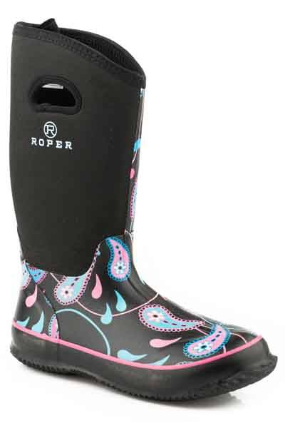 Roper Paisley Swirl Neoprene Tall Barn Boot- Ladies