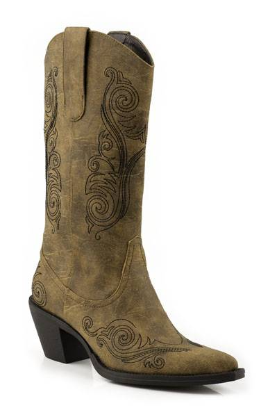 Roper Brianna Fashion Faux Leather Western Boot- Ladies