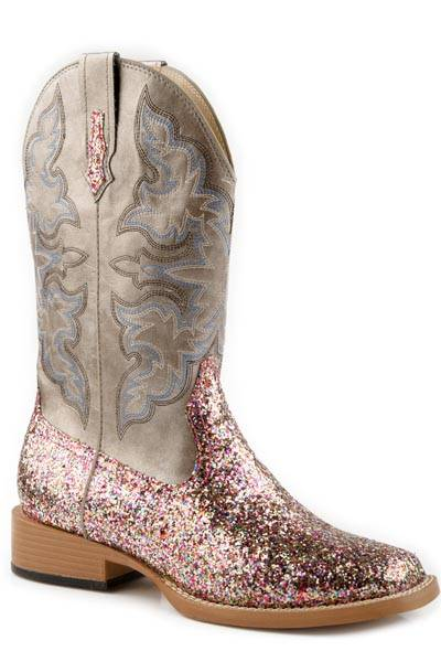 Roper Sparkles Wide Square Toe Boot- Ladies