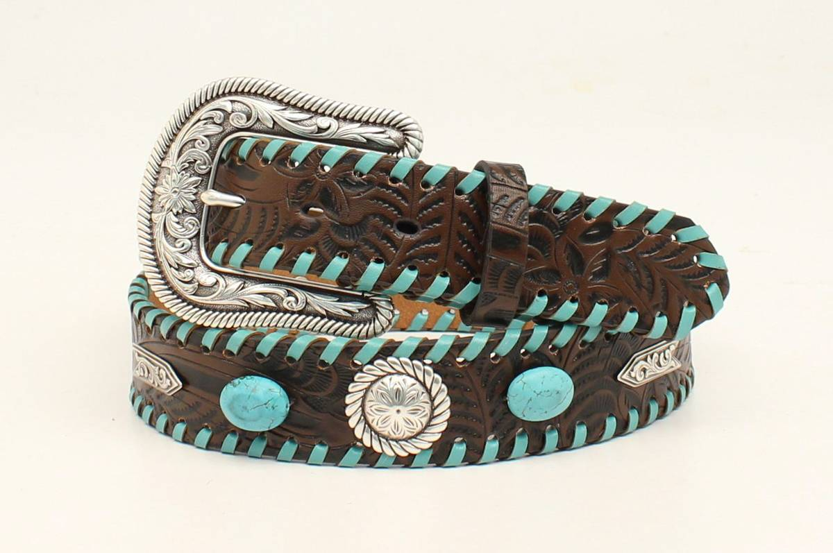 Nocona Fancy Croc Belt And Three Piece Buckle Set- Ladies