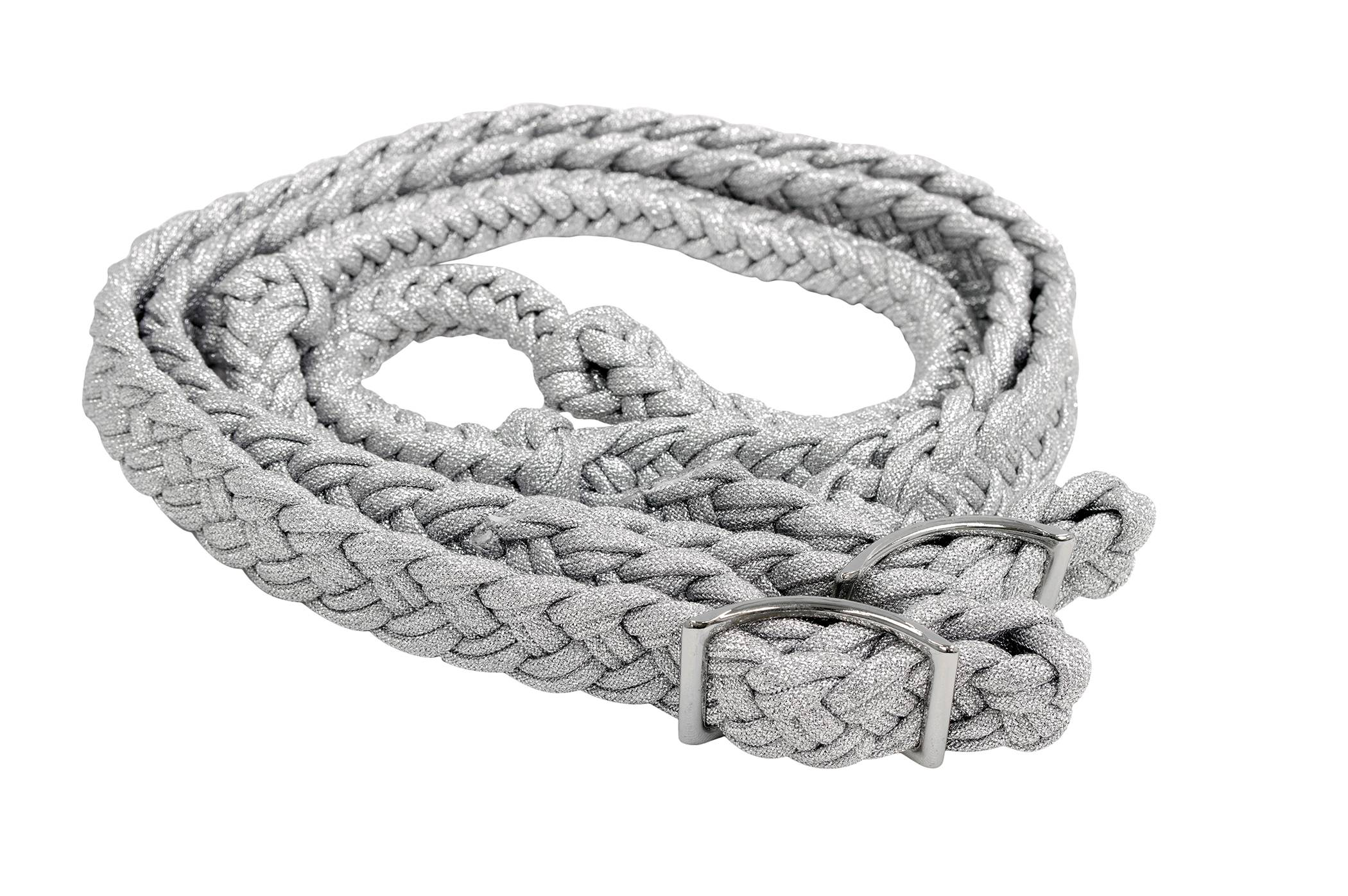 Equi-Sky Metallic Braided Barrel Rein