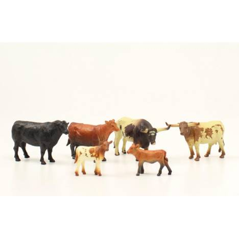 Bigtime Rodeo 6 Cow Figure Set