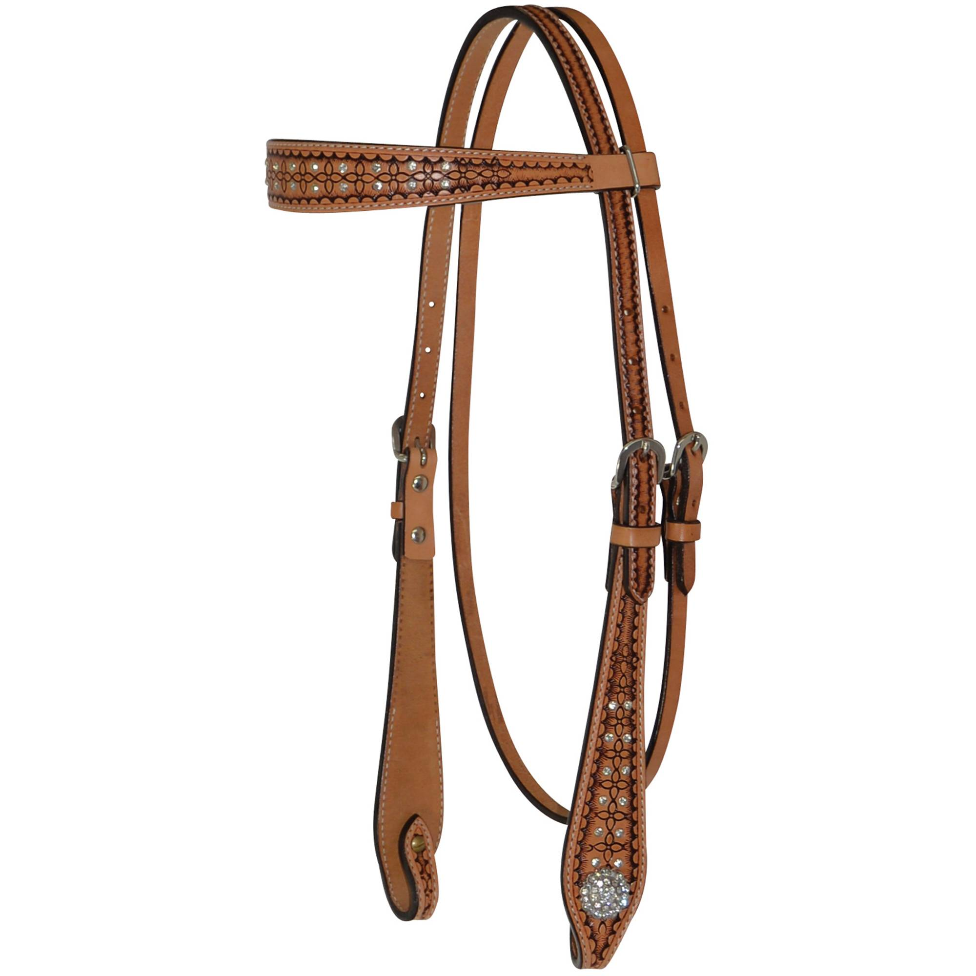 Circle Y Geometric Crystal Browband Headstall