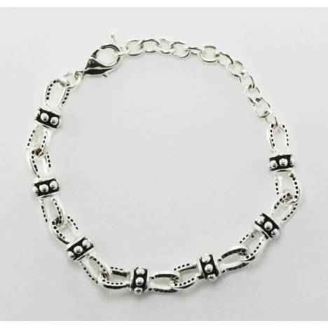 Western Edge Beaded Horseshoe Chain Bracelet