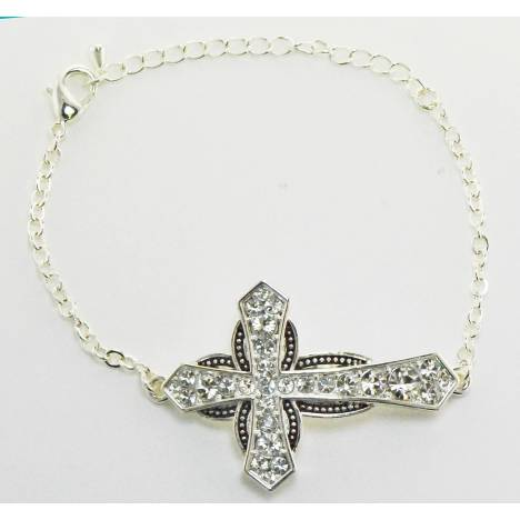Western Edge Crystal Star Cross Toggle Bracelet