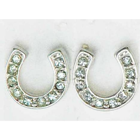 Western Edge Horseshoe With Crystal Stones Earrings