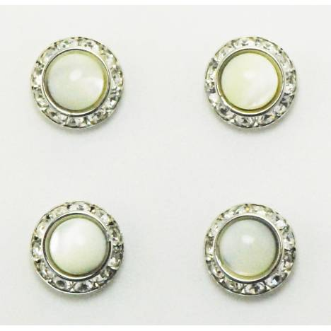 Western Edge Magnet Number Set Of 4 Pins, Pearl Crystals