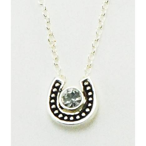 Western Edge Necklace, Small Horseshoe Crystal