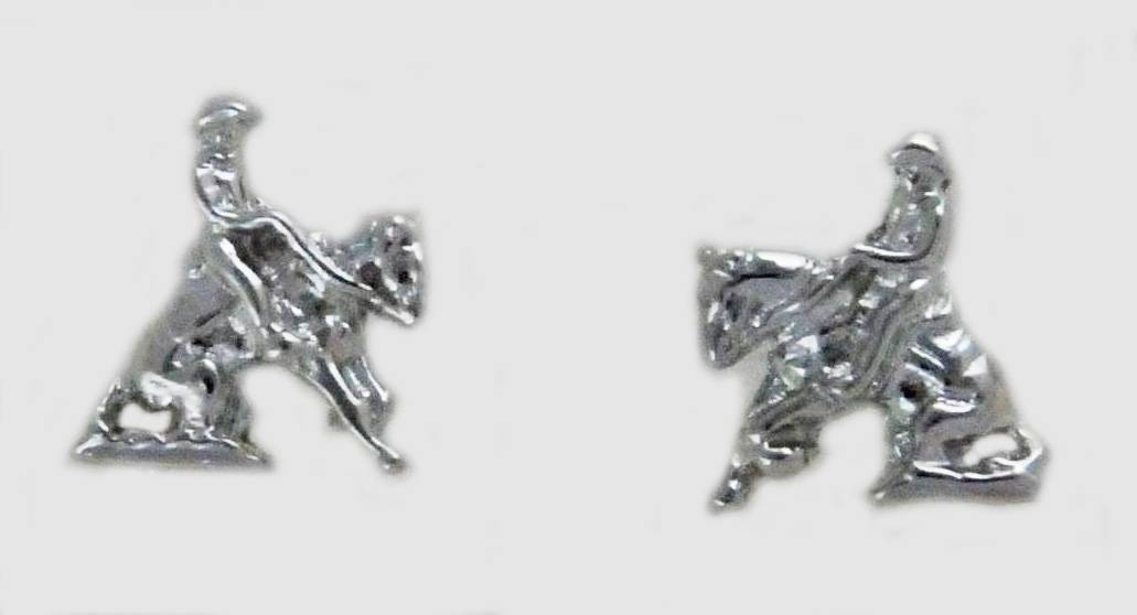 Western Edge Reining Horse Earrings