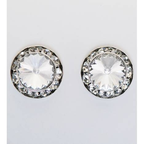 Western Edge Swarovski Rivolli Crystal Stones Earrings