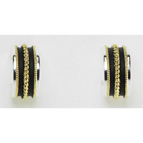 Western Edge Two Tone Rope Cuff Earrings