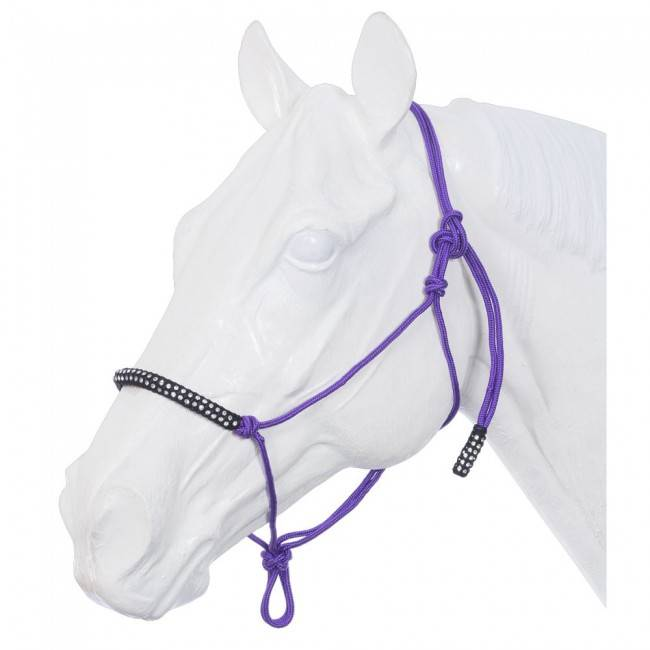 Tough-1 Poly Rope Tied Halter With Crystal Accents