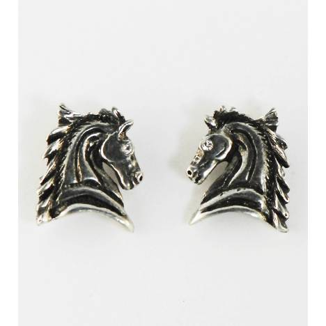Finishing Touch Horse Head Flying Mane Earrings