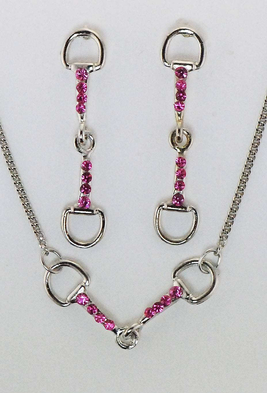 Finishing Touch Snaffle Bit Neck with Crystal Stones Jewelry Set