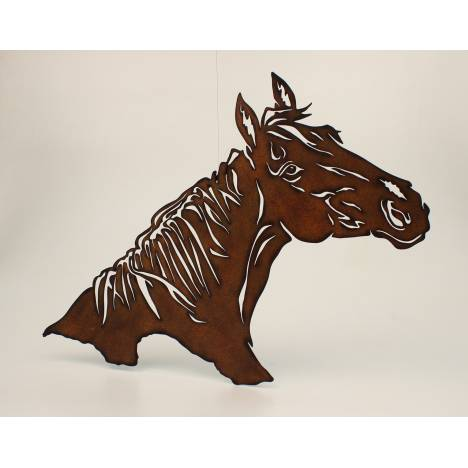 Metal Horse Head Cutout Wall Decor