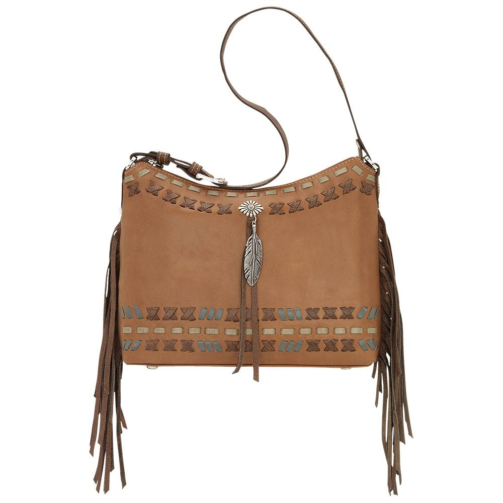 American West Mohican Melody Zip Top Shoulder Bag