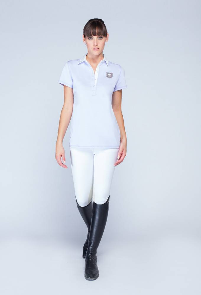 Asmar Woven Collar Polo - Ladies