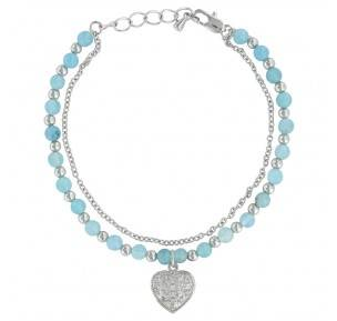 Montana Silversmiths Love The Earth And Sky Heart Charm Bracelet