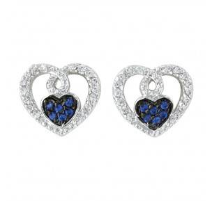 Montana Silversmiths Curlicued Cerulean Heart Earrings