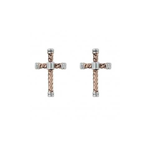 Montana Silversmiths Faith Is An Open Book Cross Earrings